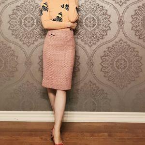 J. Crew wool blend tweed pencil skirt